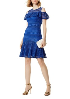KAREN MILLEN Cold-Shoulder Lace Dress