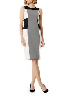 KAREN MILLEN Color-Block Sheath Dress