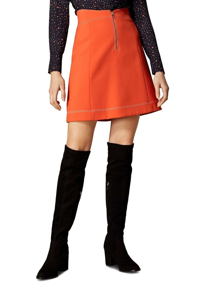 ffb2b8b444cf Karen Millen KAREN MILLEN Contrast-Stitch A-Line Skirt   Skirts