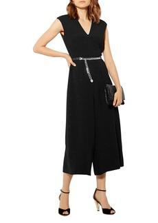KAREN MILLEN Cropped Culotte-Style Jumpsuit