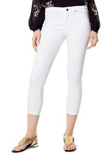 KAREN MILLEN Cropped Skinny Jeans in White