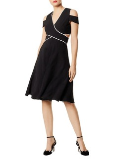 KAREN MILLEN Cutout Cold-Shoulder Dress