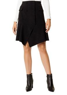 KAREN MILLEN Double-Breasted Asymmetric Skirt