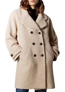 KAREN MILLEN Double-Breasted Boucl� Coat