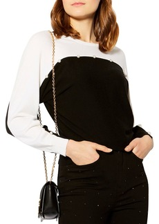 KAREN MILLEN Embellished Color-Block Sweater
