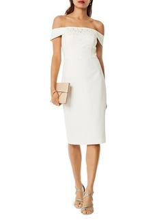 KAREN MILLEN Embellished Off-the-Shoulder Dress