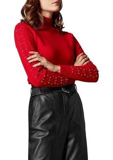 KAREN MILLEN Embellished-Sleeve Sweater