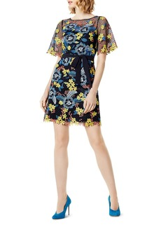 KAREN MILLEN Embroidered V-Back Lace Dress