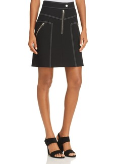 KAREN MILLEN Exposed-Zip A-Line Skirt