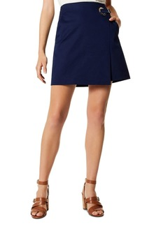 KAREN MILLEN Faux-Wrap Mini Skirt