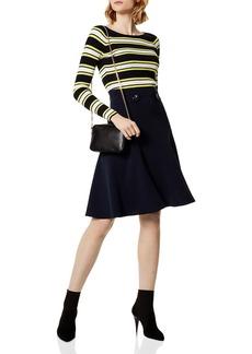 KAREN MILLEN Flared Military Skirt
