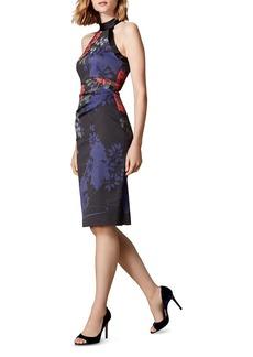 KAREN MILLEN Floral Print Sheath Dress