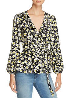 KAREN MILLEN Floral Print Wrap Top - 100% Exclusive