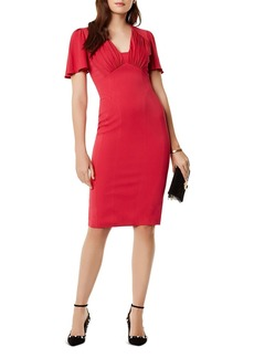 KAREN MILLEN Gathered Detail Midi Dress
