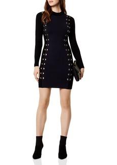KAREN MILLEN Grommet Lace-Up Dress