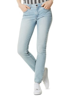 KAREN MILLEN High-Rise Skinny Jeans in Pale Denim