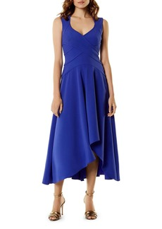 KAREN MILLEN High/Low Cutout Midi Dress