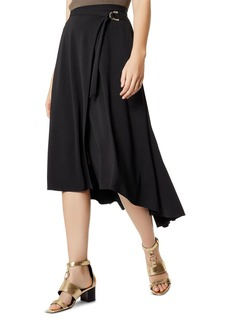 KAREN MILLEN High/Low Wrap Skirt