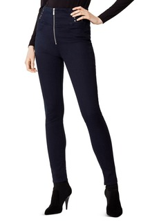 KAREN MILLEN Lace-Up Skinny Jeans in Denim