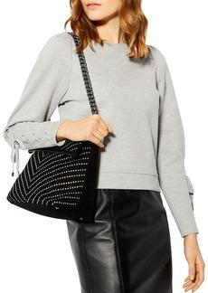 KAREN MILLEN Lace-Up Sleeve Sweatshirt
