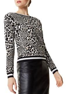 KAREN MILLEN Leopard Print Sweater
