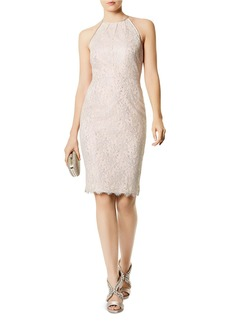 KAREN MILLEN Metallic Lace Sheath Dress