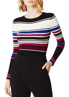 KAREN MILLEN Metallic Striped Rib-Knit Top - 100% Exclusive