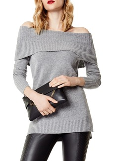 KAREN MILLEN Off-the-Shoulder High/Low Sweater