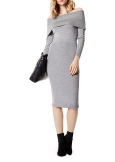 KAREN MILLEN Off-the-Shoulder Sweater Dress