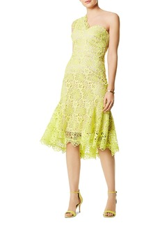 KAREN MILLEN One-Shoulder Lace Dress