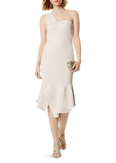 KAREN MILLEN One-Shoulder Midi Dress