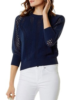 KAREN MILLEN Open-Knit Sweater