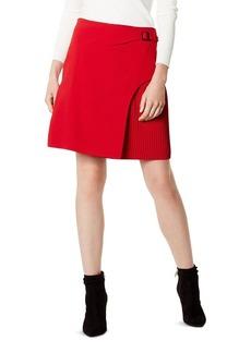 KAREN MILLEN Overlay Detail Pleated Skirt - 100% Exclusive