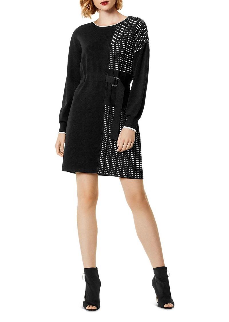 6235fb90592 Karen Millen KAREN MILLEN Pleated Detail Sweater Dress