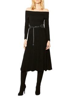 KAREN MILLEN Pointelle Off-the-Shoulder Dress