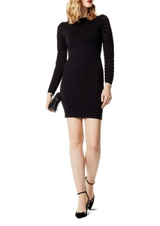 KAREN MILLEN Pointelle-Sleeve Sweater Dress