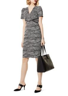 KAREN MILLEN Puff-Sleeve Sheath Dress