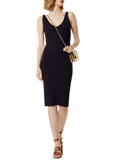 KAREN MILLEN Rib-Knit Body-Con Dress