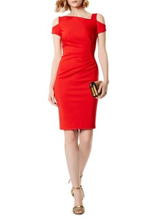 KAREN MILLEN Ruched Cold-Shoulder Dress