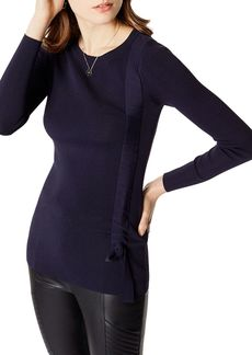KAREN MILLEN Ruched Drawstring Sweater
