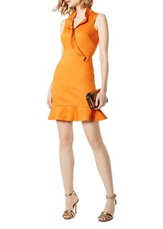 KAREN MILLEN Ruffled Crossover Dress