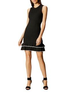 KAREN MILLEN Ruffled-Hem Knit Dress