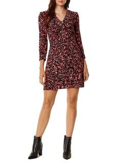 KAREN MILLEN Ruffled Leopard Print Dress