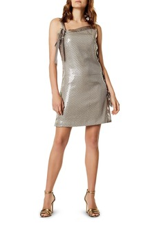 KAREN MILLEN Sequined Lace-Up Mini Dress