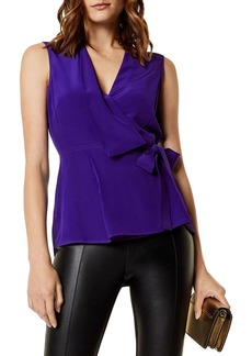 KAREN MILLEN Silk Wrap Top