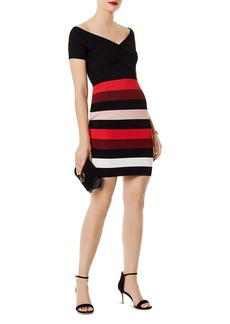 KAREN MILLEN Striped Body-Con Dress