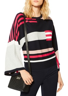 KAREN MILLEN Striped Color-Block Sweater
