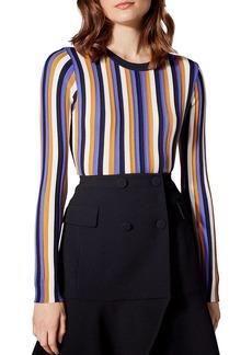 KAREN MILLEN Striped Crewneck Sweater