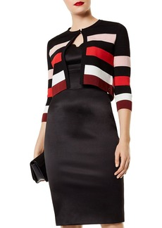 KAREN MILLEN Striped Cropped Cardigan