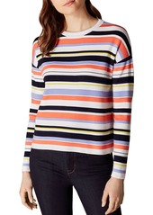 KAREN MILLEN Striped Drop-Shoulder Sweater